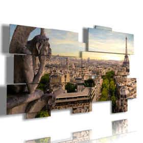 cuadro con fotos en París desde Notre Dame