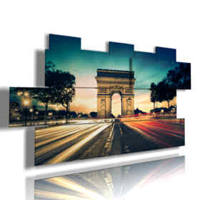 quadro con foto di Parigi Arco di Trionfo luci magiche