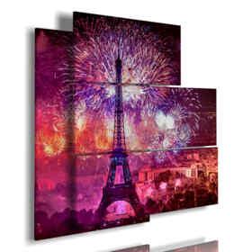 quadro con foto Parigi capodanno