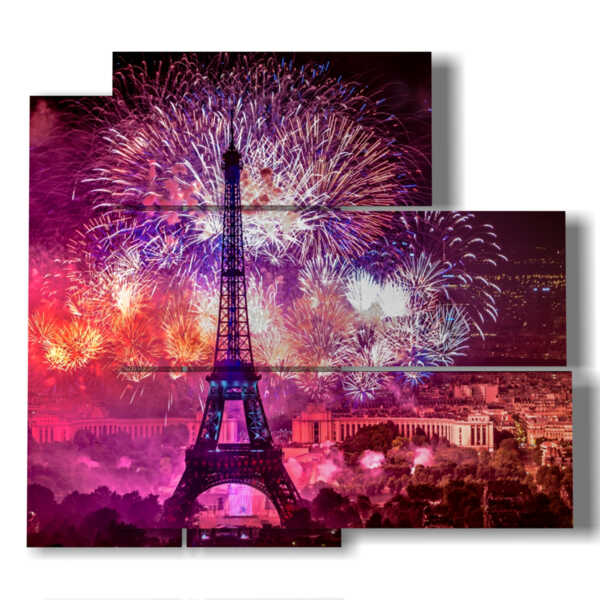 Paris New Year's painting with photos