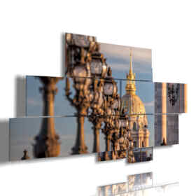 picture with photo postcard Paris Alexandre III bridge