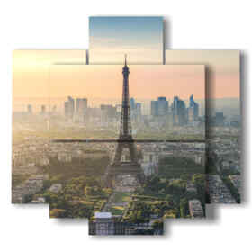 quadro con foto Parigi al tramonto