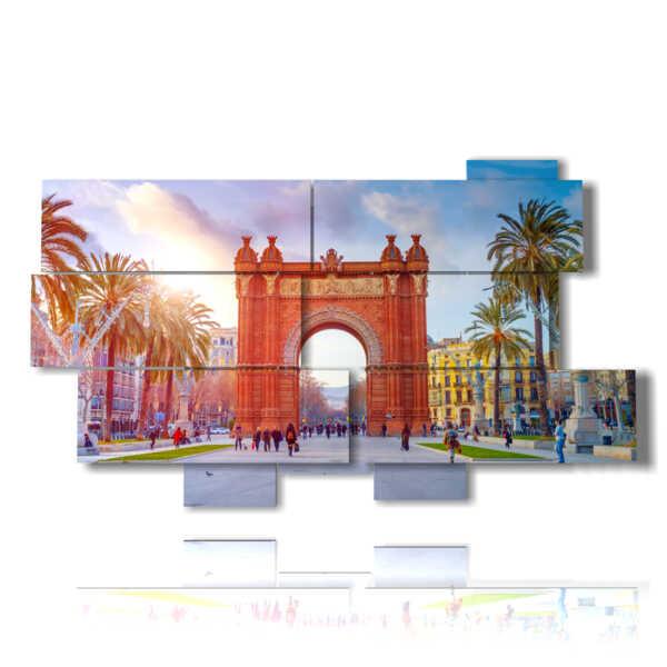 photo avec des photos à Barcelone Arc de Triomphe