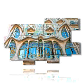picture with photos House Barcelona - Gaudi