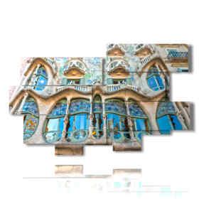 quadro con foto casa Barcellona - Gaudì