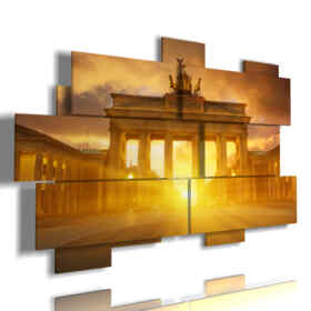 painting with Berlin photos sunset today
