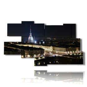 tableaux de Turin la nuit
