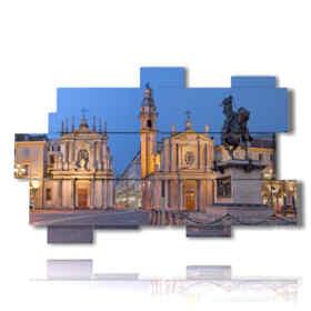 estampes photos Torino Piazza San Carlo
