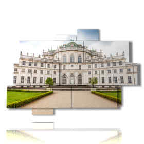 painting city of Turin of Stupinigi