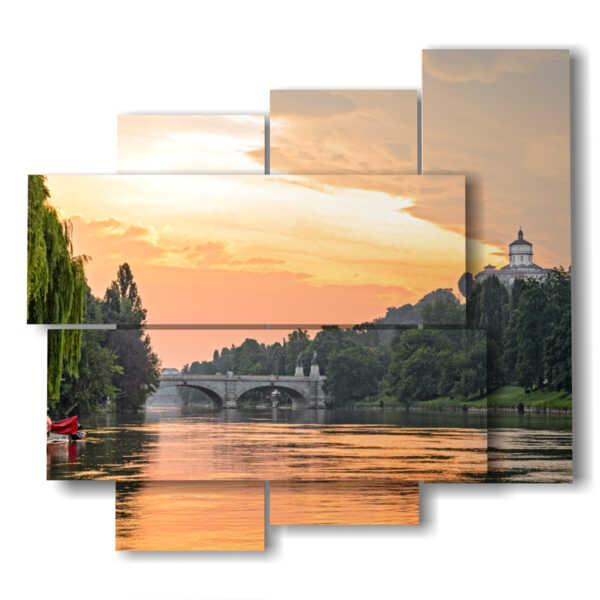 tableaux de Turin au coucher du soleil