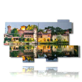 quadri moderni a Torino specchiata nell'acqua