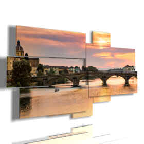 panel with images of Florence Old Bridge