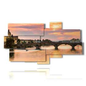 panel con imágenes de Florence Old Bridge
