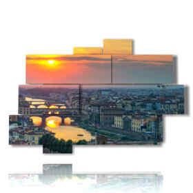 panel con imágenes de Florencia hoy