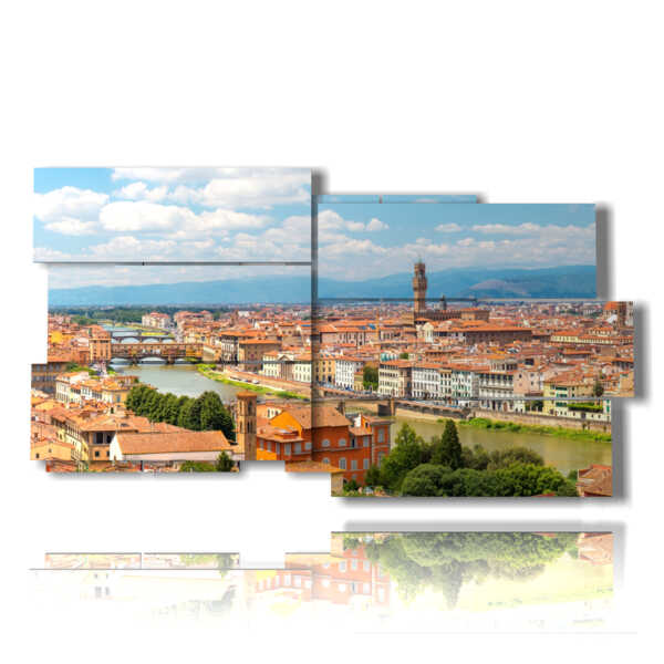 painting with images city of Florence