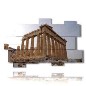 modern painting Athens - Parthenon Temple 02
