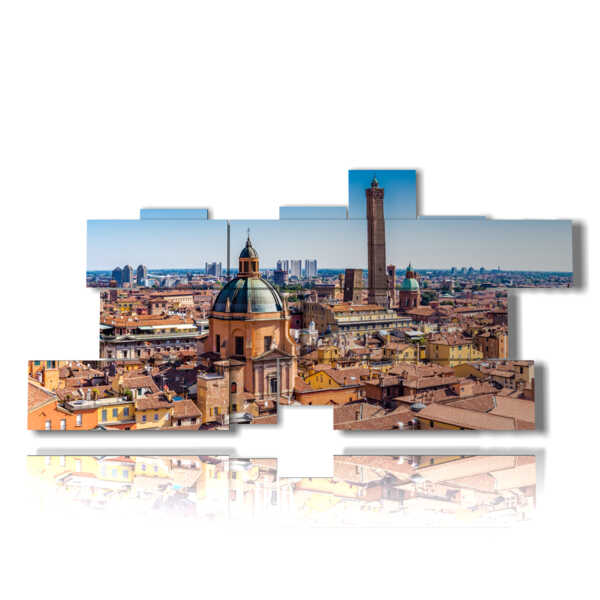 modern paintings of cities in Bologna