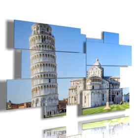 painting with city beautiful images - Pisa