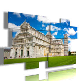 horizontal modern paintings with Pisa