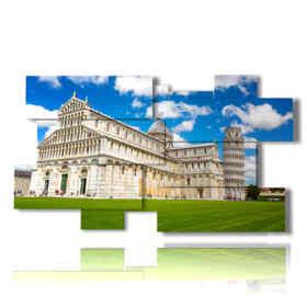 quadri moderni orizzontali con Pisa