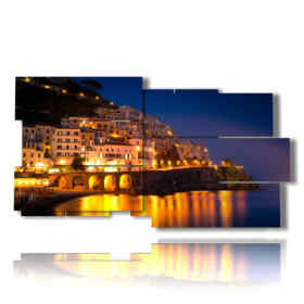 quadro con immagine città italiane - Amalfi