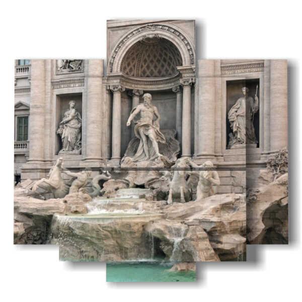 painting Rome Italy Trevi Fountain