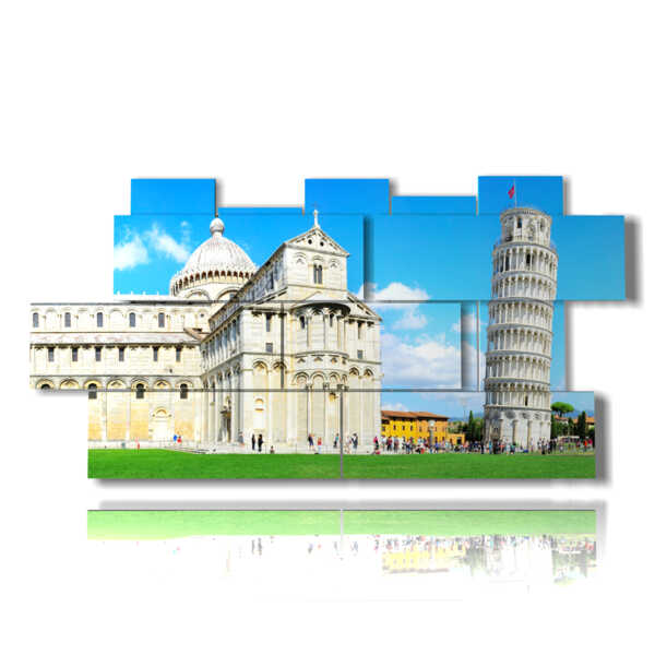 painting with Italian city to see - Pisa