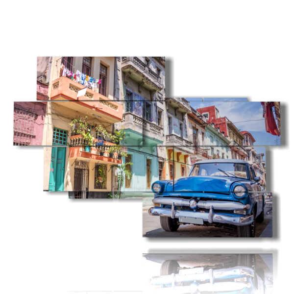cuadro con las impresiones de Cuba