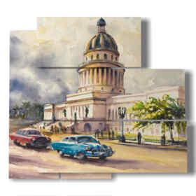 Cuban paintings city