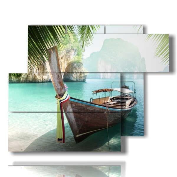 cuadro con fotos de playas de cuba