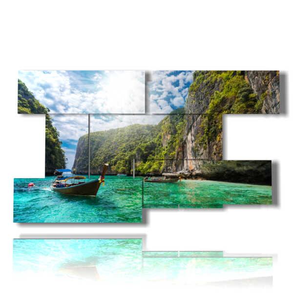 tableaux avec des photos cuba plage