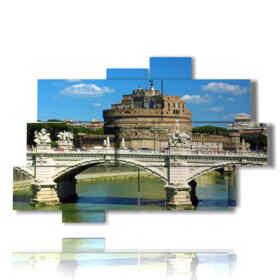 Roma nei quadri guardando Castel Sant'Angelo