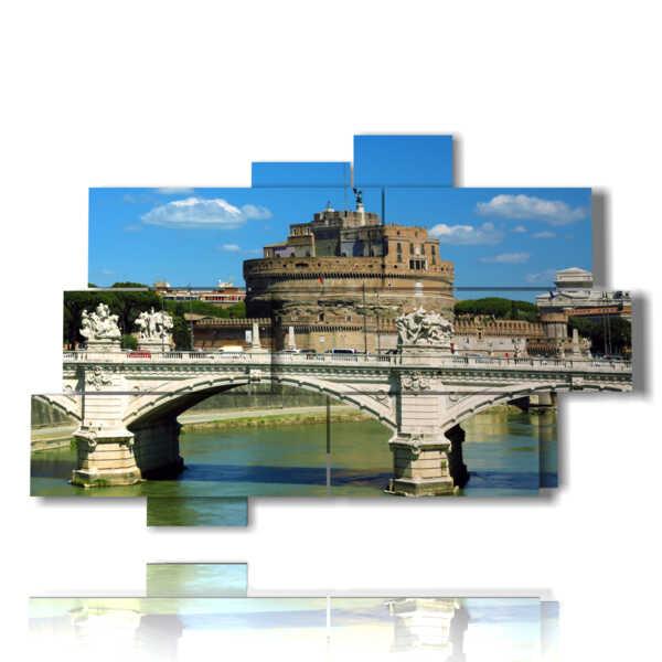 Roma, en la plaza viendo el castillo de Sant'Angelo