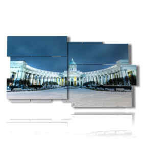 picture with photos of the city of St. Petersburg