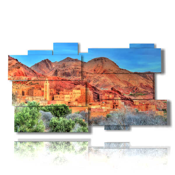 picture with photos of Morocco