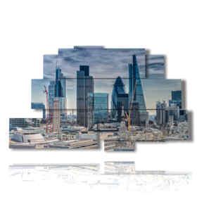 Modern picture London financial District