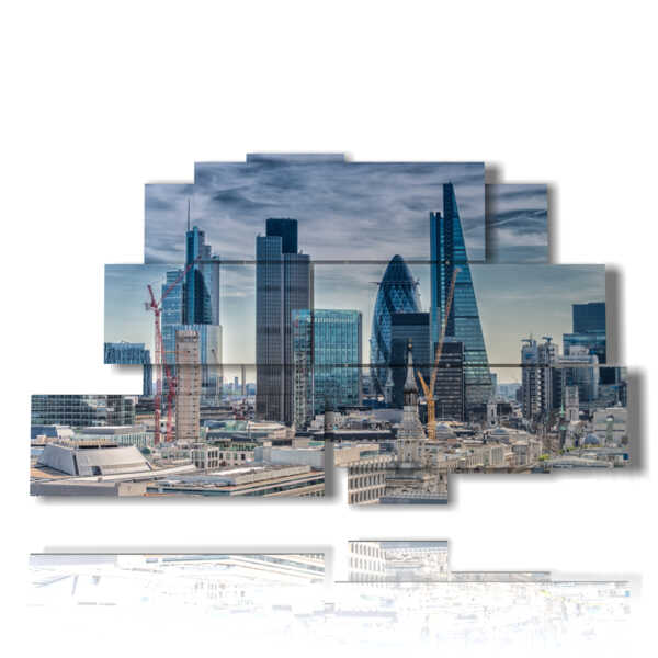painting London Financial District