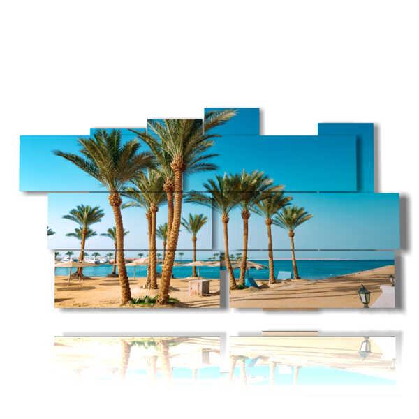 quadro con foto Egitto mare