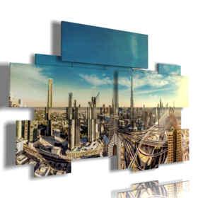 cuadro con la foto panorámica de Dubai