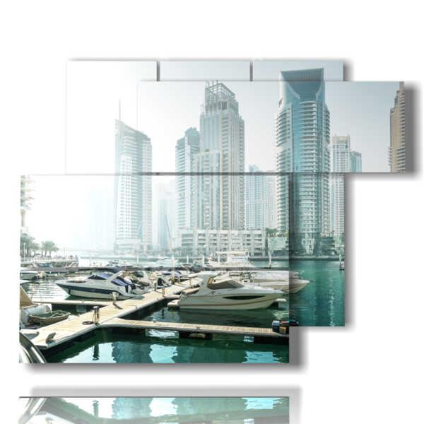 quadro con immagini di Dubai
