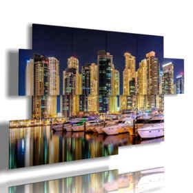 quadro con foto di Dubai di notte