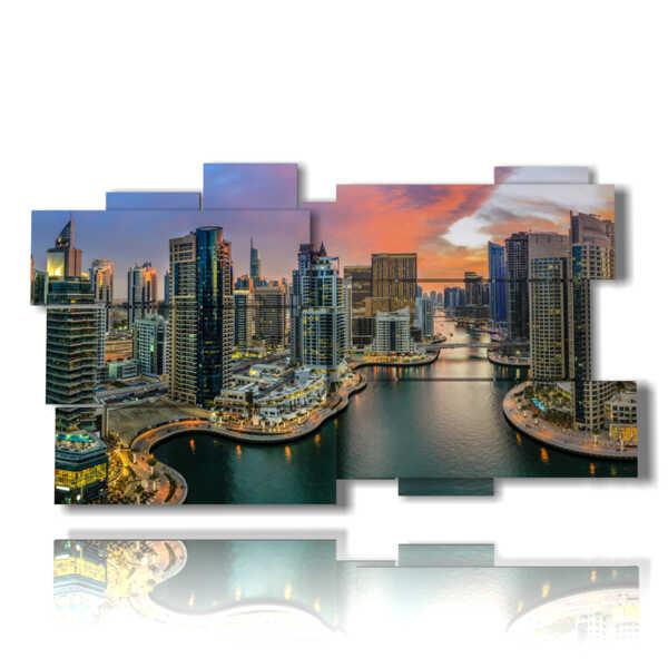 cuadro con las más bellas imágenes de Dubai