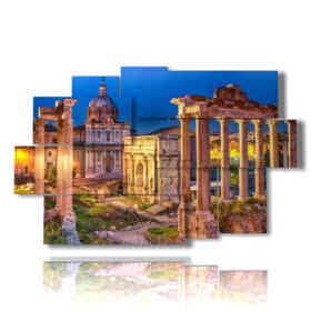 quadri su Roma con Foro Romano spettacolare