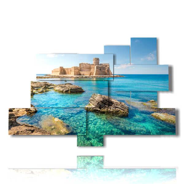 quadro con foto città Italia Calabria - Le Castella