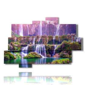 quadri di cascate in Cina