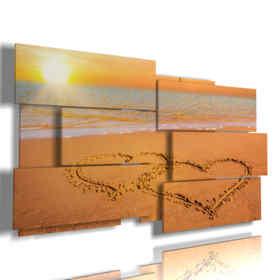 tableaux avec du sable au coeur