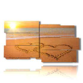 quadro con sabbia a cuore