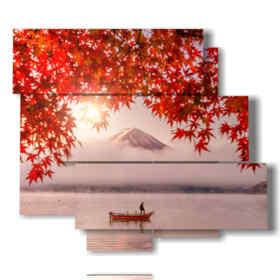 quadro con foto in autunno al lago