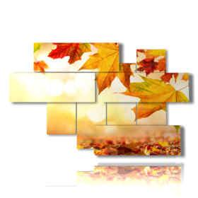 quadro con immagini di autunno con sole