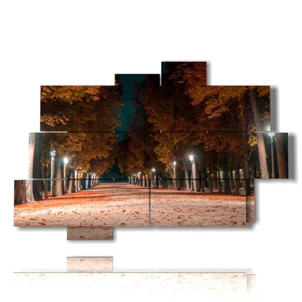 cuadro con la imagen de la tarde de otoño